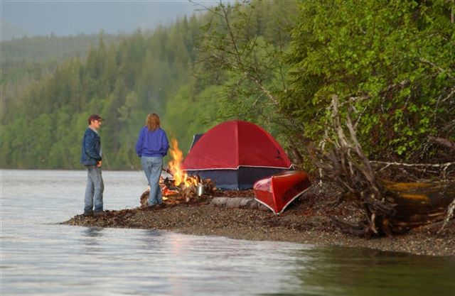 You can have your five-star hotel room. For me, nothing like a tent and a fire to say romance is near.