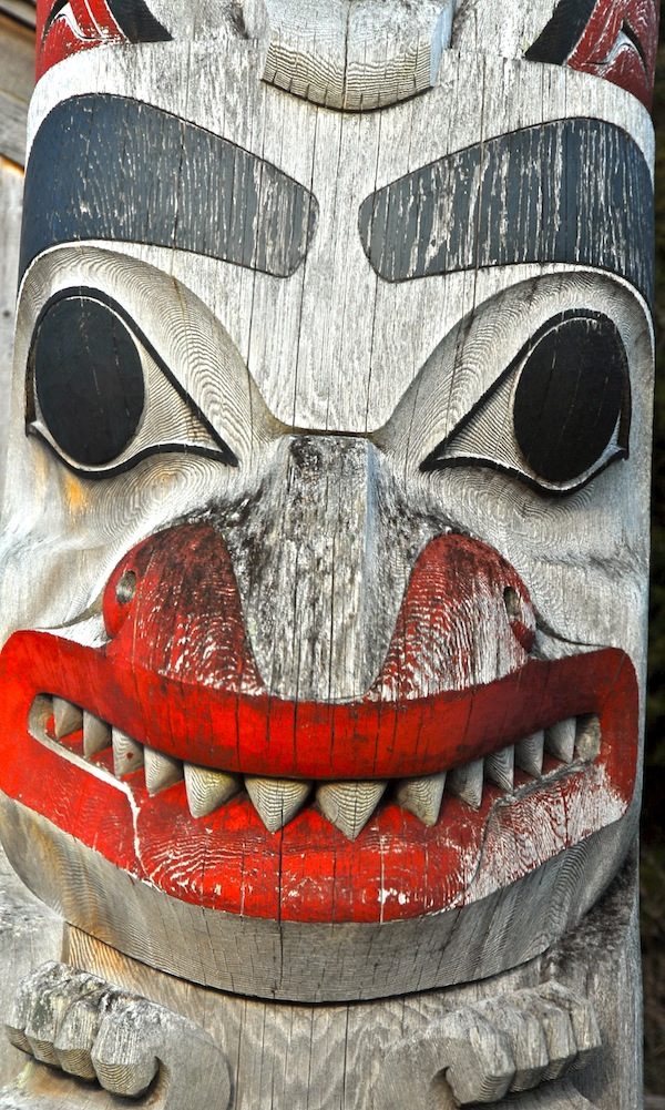 A totem here, some other carving there. Visit QCI and you'll see art everywhere. Worth the visit if you didn't even care about steelhead. Amazing artists.