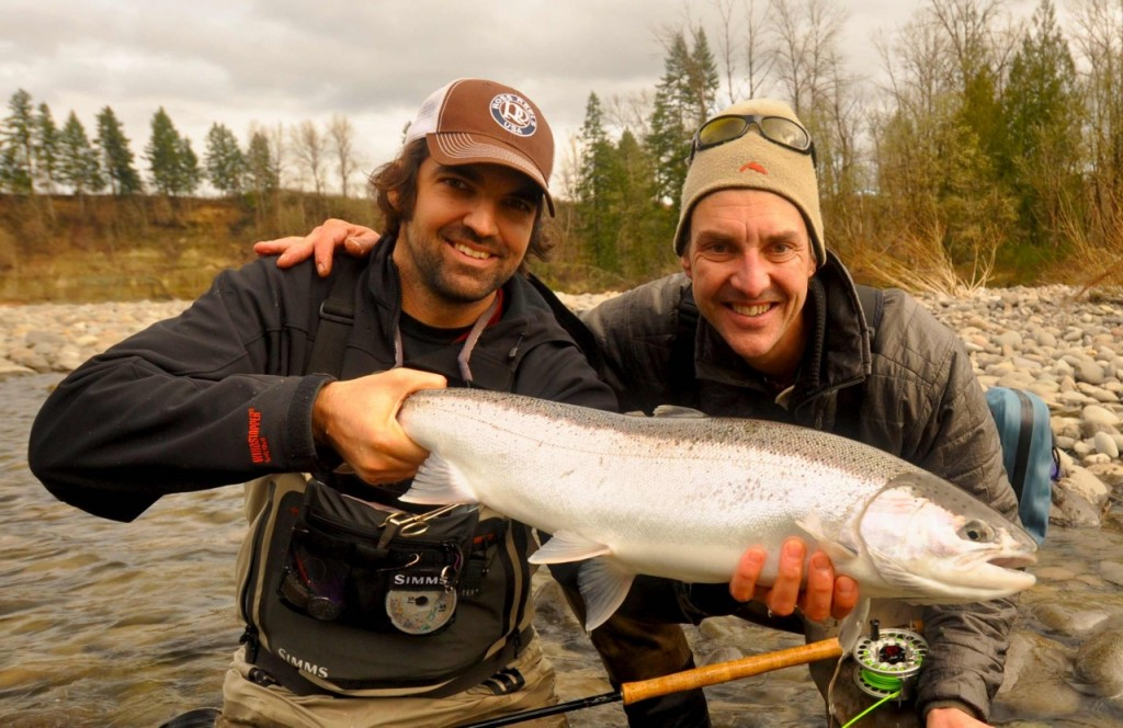 Hickman, left, with a client and awesome winter steel.