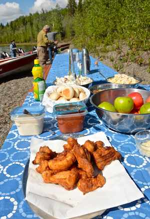 We enjoyed two shore lunches during our visit. Pike and lake trout, freshly caught and fried in a giant cast iron skillet. Good eats.