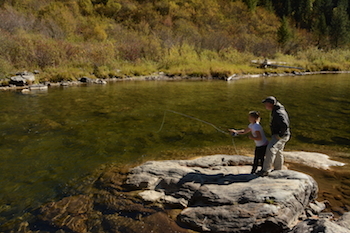 Fall is a great time to get your kids out fishing. And fall caddis offer an easy match the hatch situation. Just tie on a big dry caddis and work with your kids on their casts. Whether skating on the water or dead-drifting, the fly is bound to be eaten.