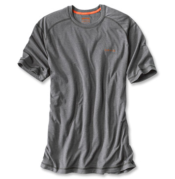 Orvis Drirelease short sleeve version. Lots of colors to choose from. You could take a couple of these shirts on a backpacking trip and be good to go. Rinse in a stream or a lake and you'll be set for another 10 miles.